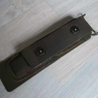 Trousse cuir CS34 du signal corps (version en toile forte)
