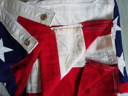 Grand drapeau US (165 x 310cm) 48 étoiles brodées sur coton