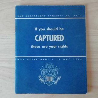 Pamphlet 21-7 daté 1944 (CAPTURED)