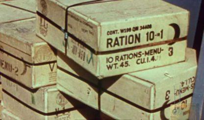 Carton de ration 10 in 1 datée 1944