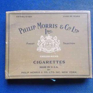 Boite en carton vide de cigarettes PHILIP MORRIS