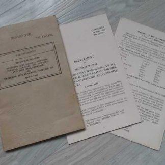 TM 11-1122 daté de 1943 (détecteur de mine)