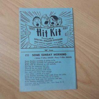 Fascicule de chants daté 1945 (bleu)