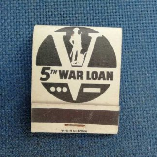 "Pochette d'allumettes ""5th war loan"""