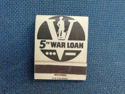 "Pochette d'allumettes ""5th war loan"""
