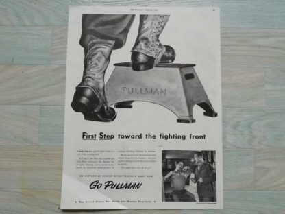 PUB originale PULLMAN datée 1943