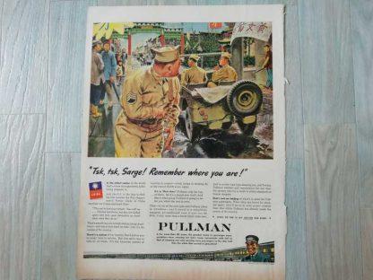PUB originale PULLMAN datée 1944