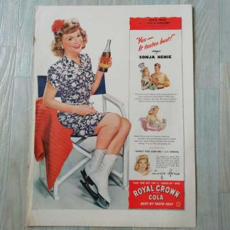 PUB originale ROYAL CROWN COLA de 1944