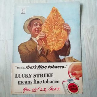 PUB originale LUCKY STRIKE datée 1944