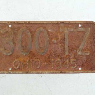 Plaque minéralogique datée 1945