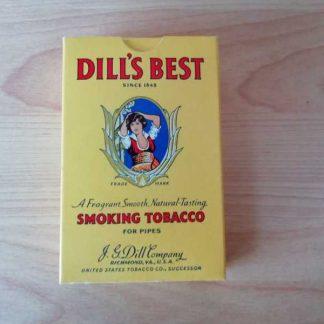 Paquet carton plein de tabac DILL'S BEST daté 1945