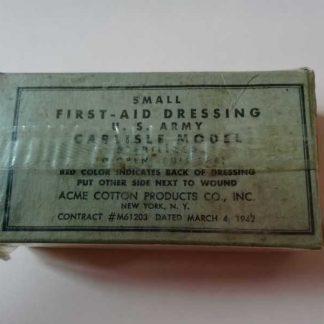 Pansement individuel ACME daté 1942