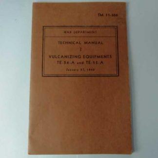 TM 11-366 daté de 1943 (vulcanisation)