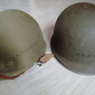 Casque USM1 de 1942 (identifié) et liner HAWLEY