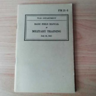 FM 21-5 daté 1942 (military training)