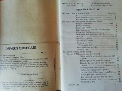 TM 10-460 daté 1942 (driver's manual)