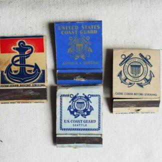 Pochettes d'allumettes USN et Coast Guards