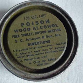 Boite d'alcool individuelle pour rations C