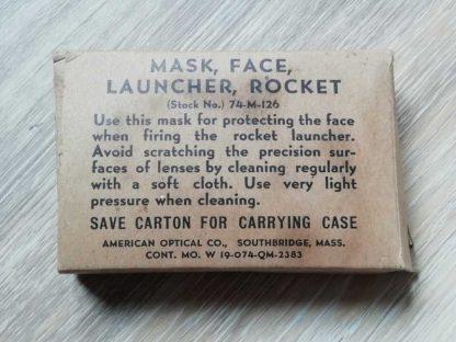 Masque de protection en boite (tireur bazooka)