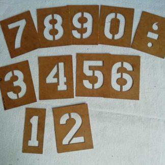 Pochoirs chiffres (2 pouces)