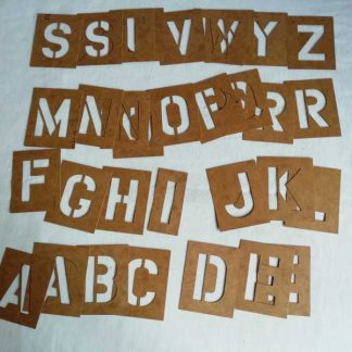 Pochoirs lettres (2 pouces)