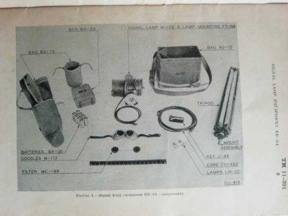TM 11-391 daté de 1942 (signal lamp EE-84)