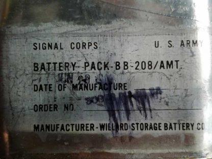 Pile BB 208-AMT emballé d'origine en 1945