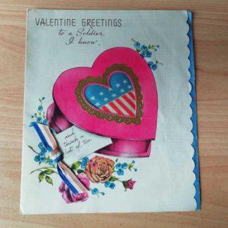 """Carte patriotique """"VALENTINE GREETINGS"""""""