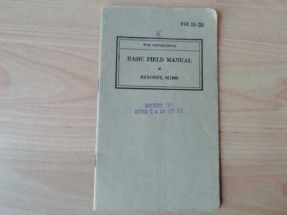 FM 23-25 daté 1940 (bayonet)
