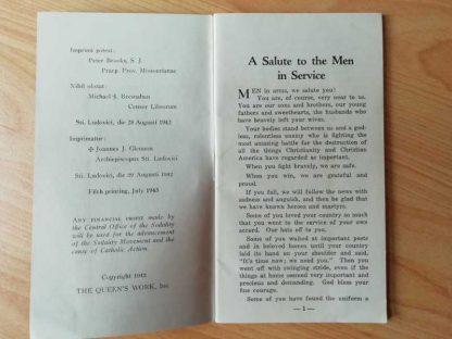 Livret religieux daté 1942