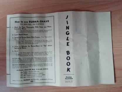 Notice BURMA SHAVE datée 1944