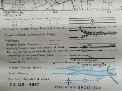 Carte US de la Pointe du Hoc datée 1944