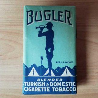 Paquet papier plein de tabac BUGLER daté 1945