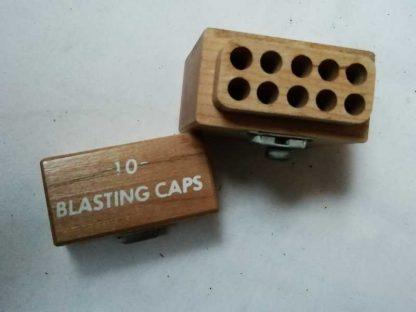 Boite en bois vide pour 10 détonateurs