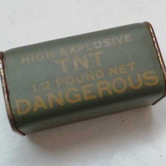 Pétard de TNT de 1/2 pound original (NEUTRALISE) en TTBE