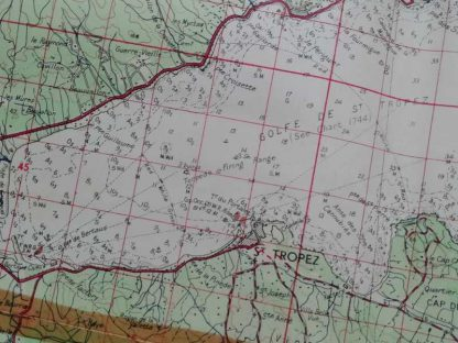 Carte US de Saint Tropez de l'opération DRAGOON