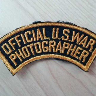 Insigne original OFFICIAL US WAR PHOTOGRAPHER