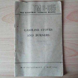 TM 8-615 daté 1945 (stoves and burners)