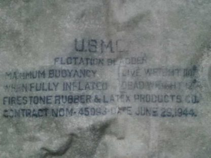 Sac de flottaison USMC daté 1944