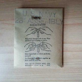 Chainette pour dog tag USN datée 1944