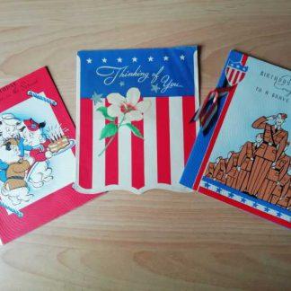 Lot de 3 cartes patriotiques (01)