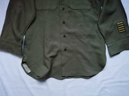Chemise moutarde 24° CORPS datée 1944