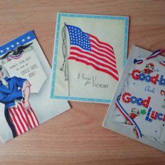 Lot de 3 cartes patriotiques (02)