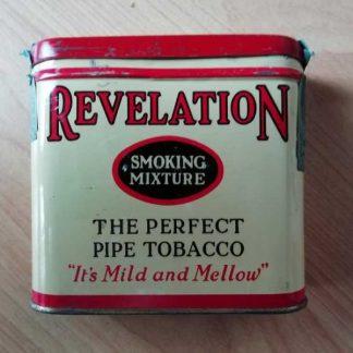 Boite vide de tabac REVELATION datée 1939