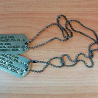 Jeu de dog tag d'origine T42-43 (Pinc)