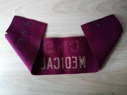 Brassard original CMS sur feutre