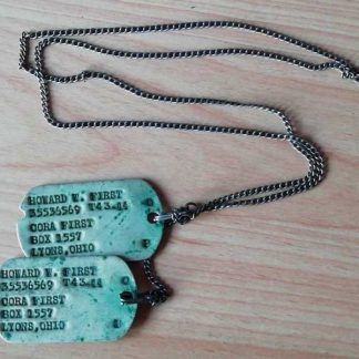 Jeu de dog tag d'origine 43/44 (First)