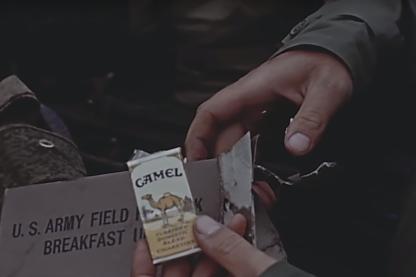 Paquet de 4 cigarettes CAMEL de ration US
