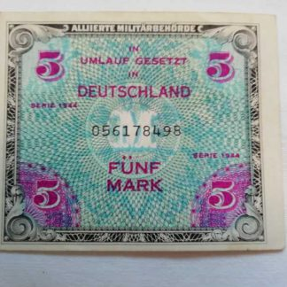 Billet US de 5 mark daté 1944
