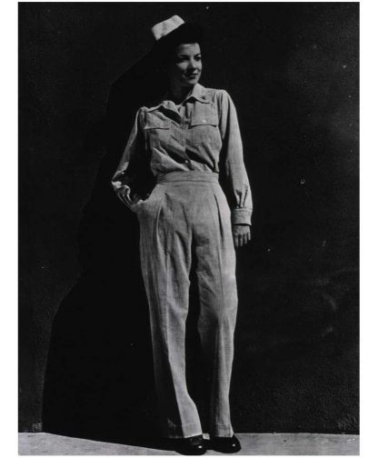 "Pantalon original nurse ""SEERSUCKER"" nominatif"